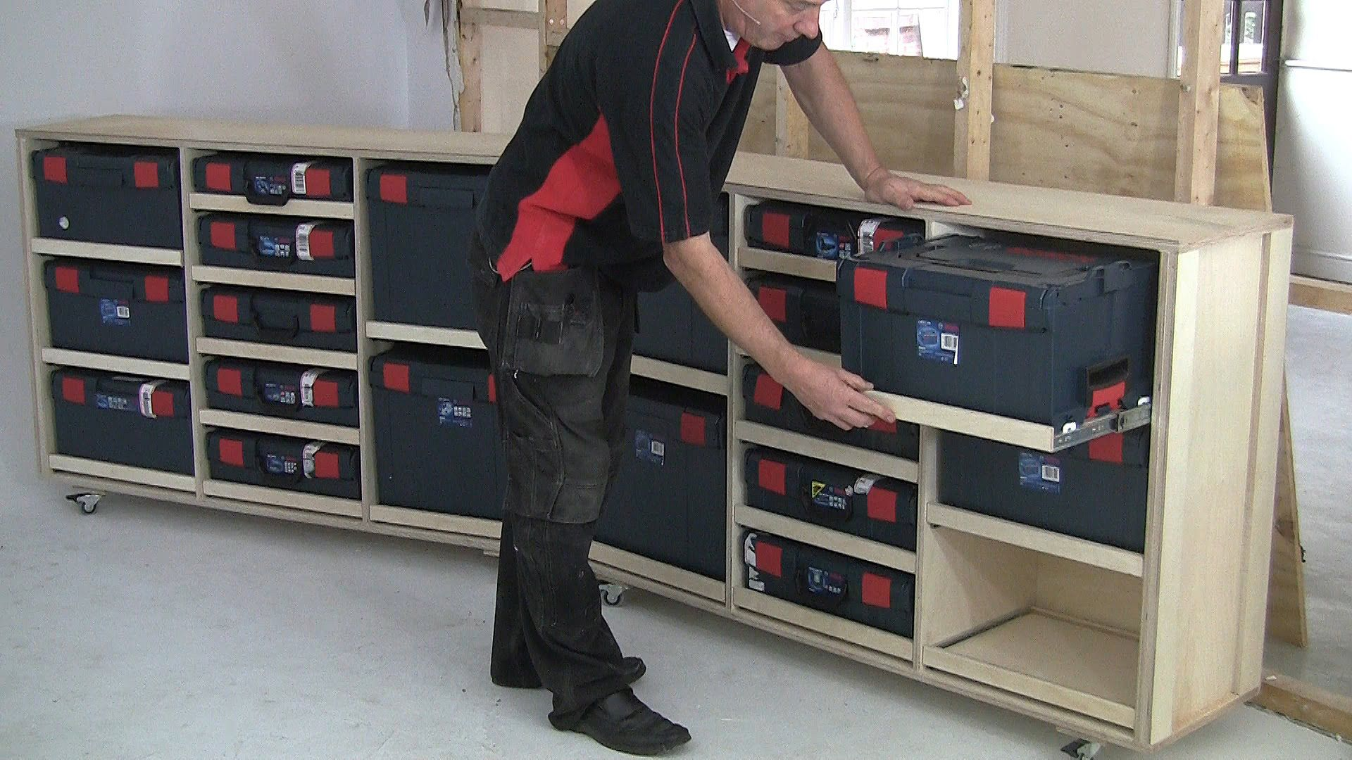 Build It With Bosch Project 6 Multi Bench L Boxx Storage Part 1