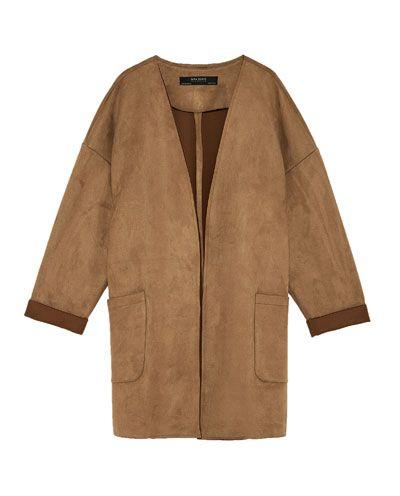 Chaqueta Plastrón Todo Bolsillo Mujer Ver Abrigos España Zara rrq85fwxR