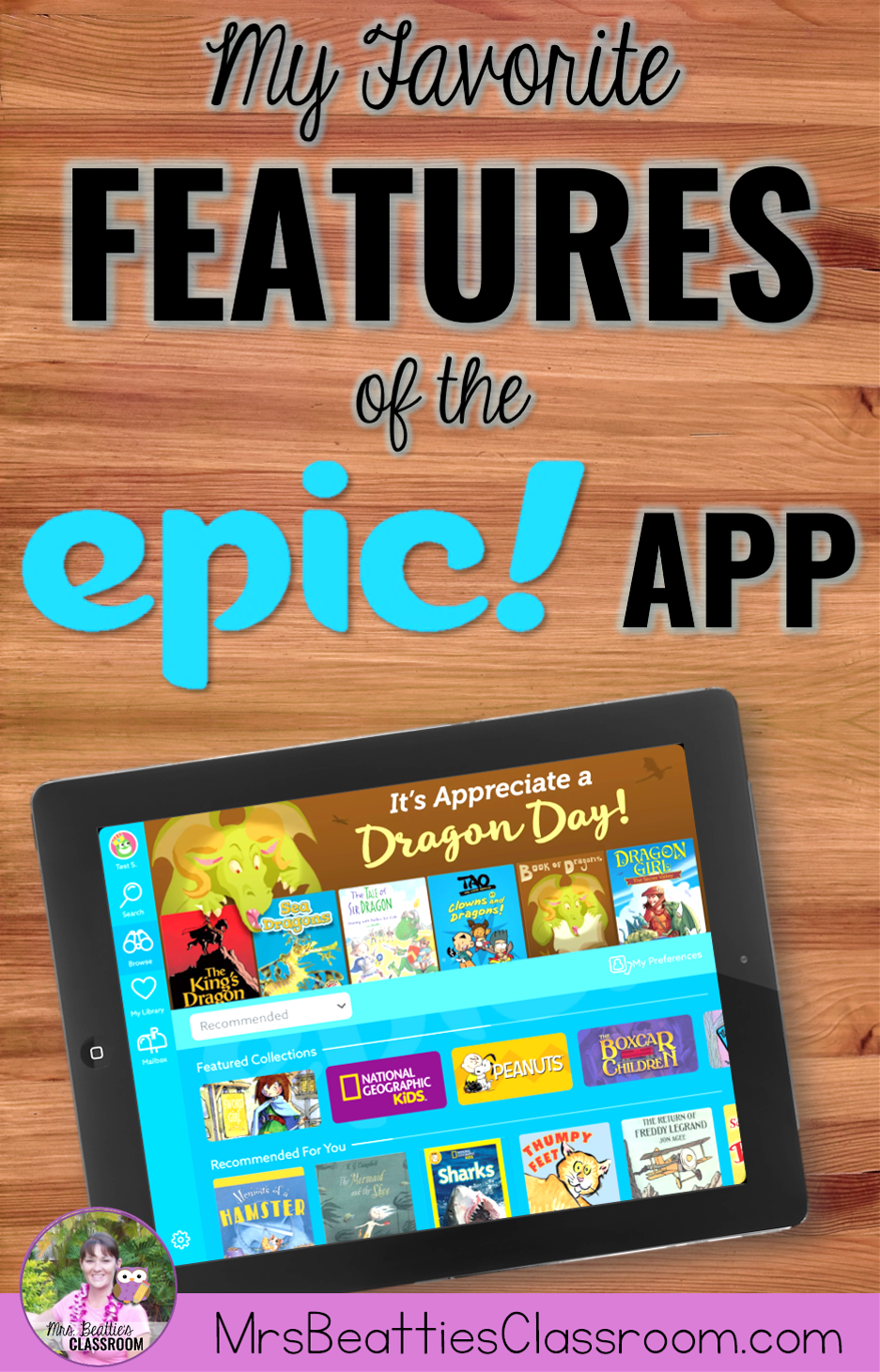 My Favorite Features of the Epic! Reading App