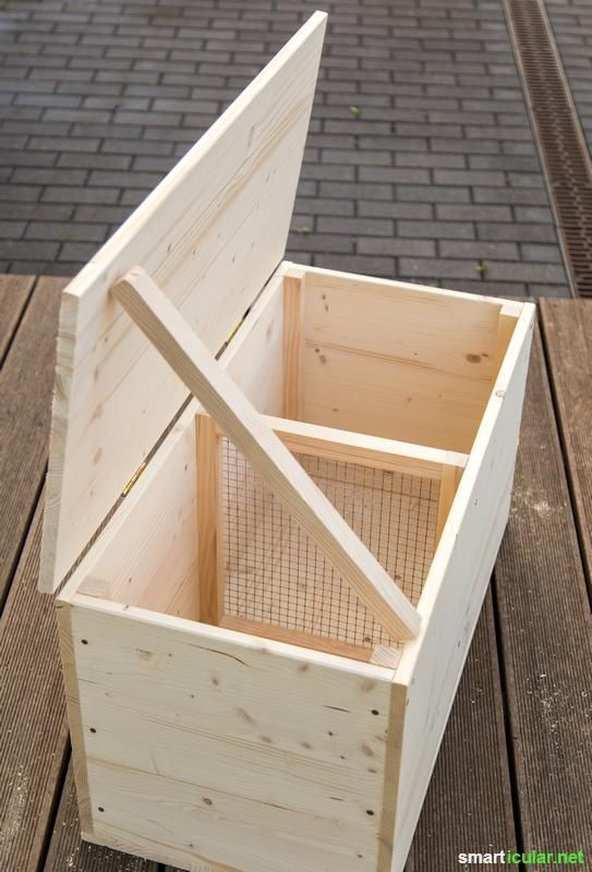 Kompostieren Ohne Garten So Baust Du Eine Wurmkiste Baust Eine Garten Kompostieren Ohne Wurmkiste In 2020 Garden Boxes Diy Compost Diy Garden Projects