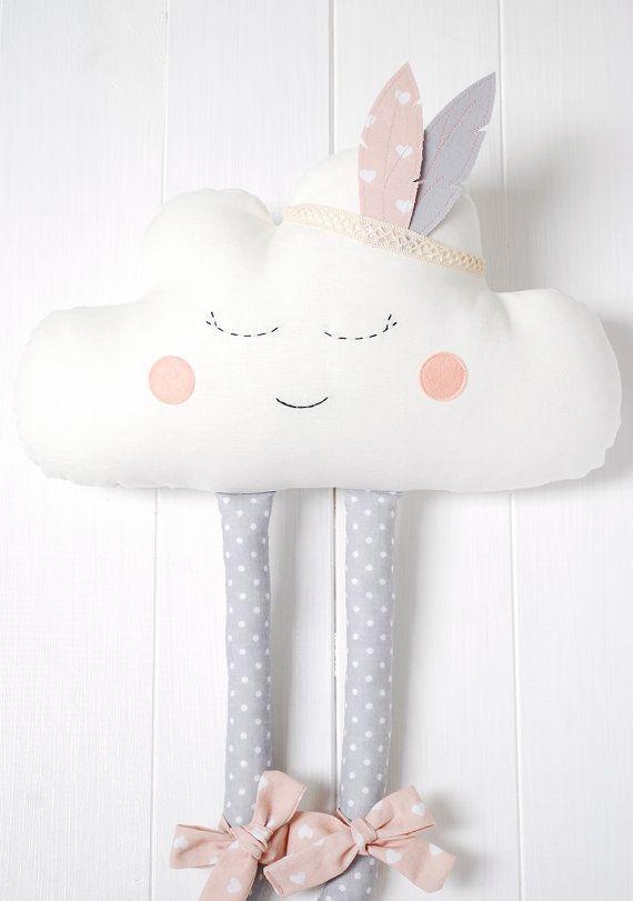 Wolke cloud kissen kissen kissen wolke pl sch happy von jobuko emi - Kissen kinderzimmer deko ...