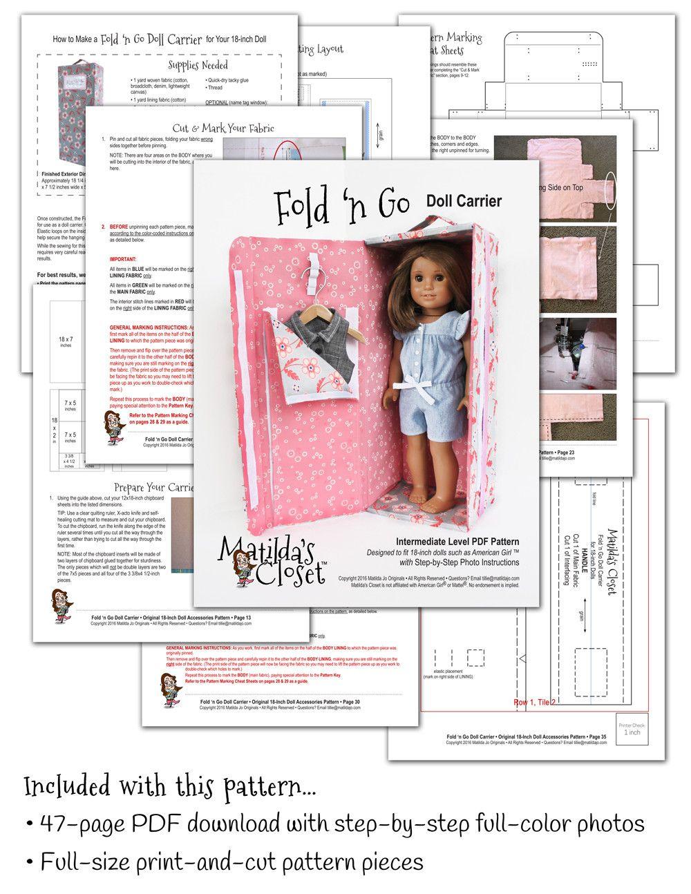 Fold \'n Go Doll Carrier 18\