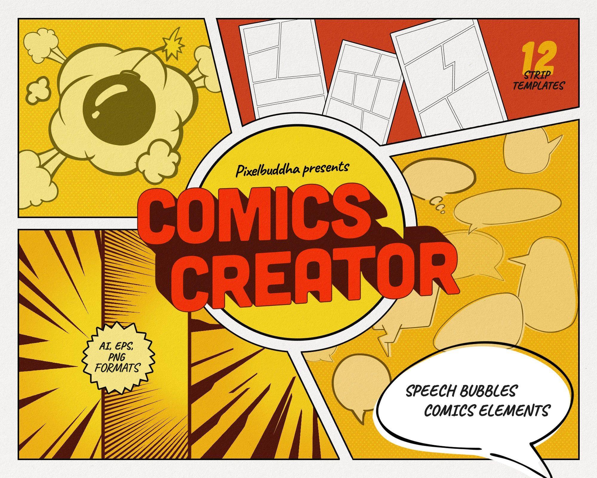 Custom Comic Book Creator For Adobe Illustrator
