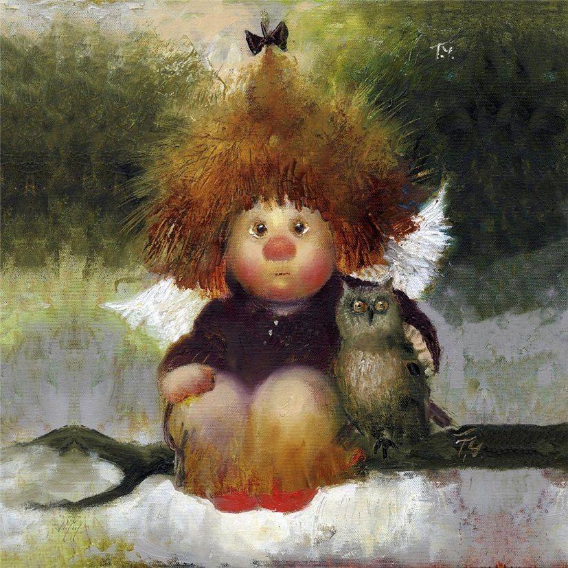 Картинка ангела смешная