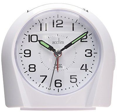 #Acctim 14112 #europa alarm #clock, white,  View more on the LINK: http://www.zeppy.io/product/gb/2/262643417075/