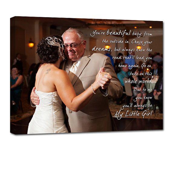 First Dance Father Daughter Dance Wedding photo gift Art TEXT ...