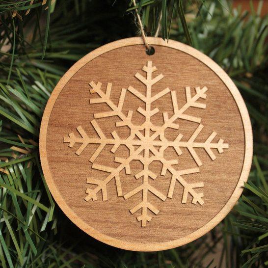 Xmas Ornaments - Wooden Christmas Decoration - Snowflake Ornaments - wood christmas decorations