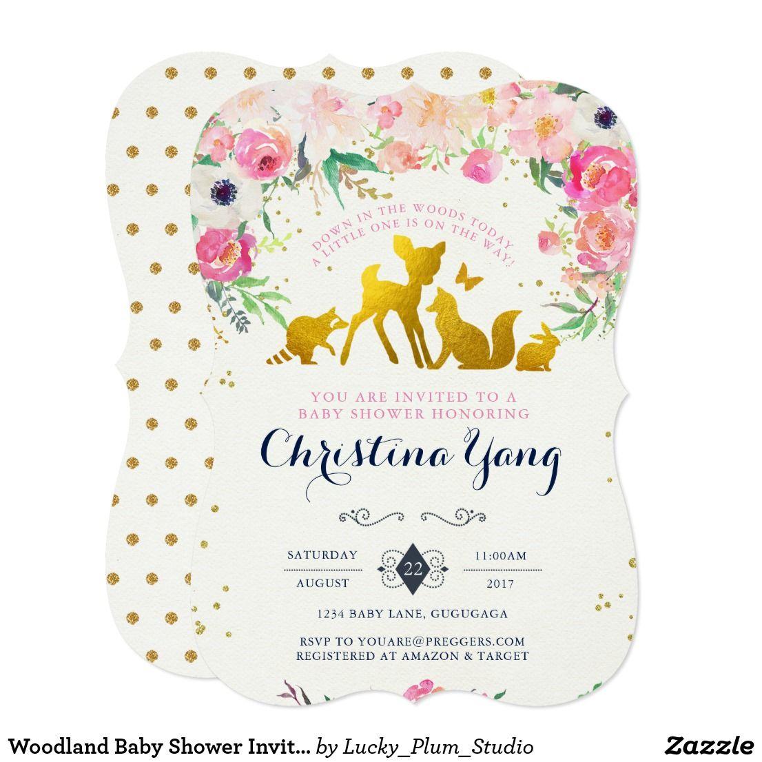 Woodland Baby Shower Invitation   Party Time   Pinterest   Woodland ...