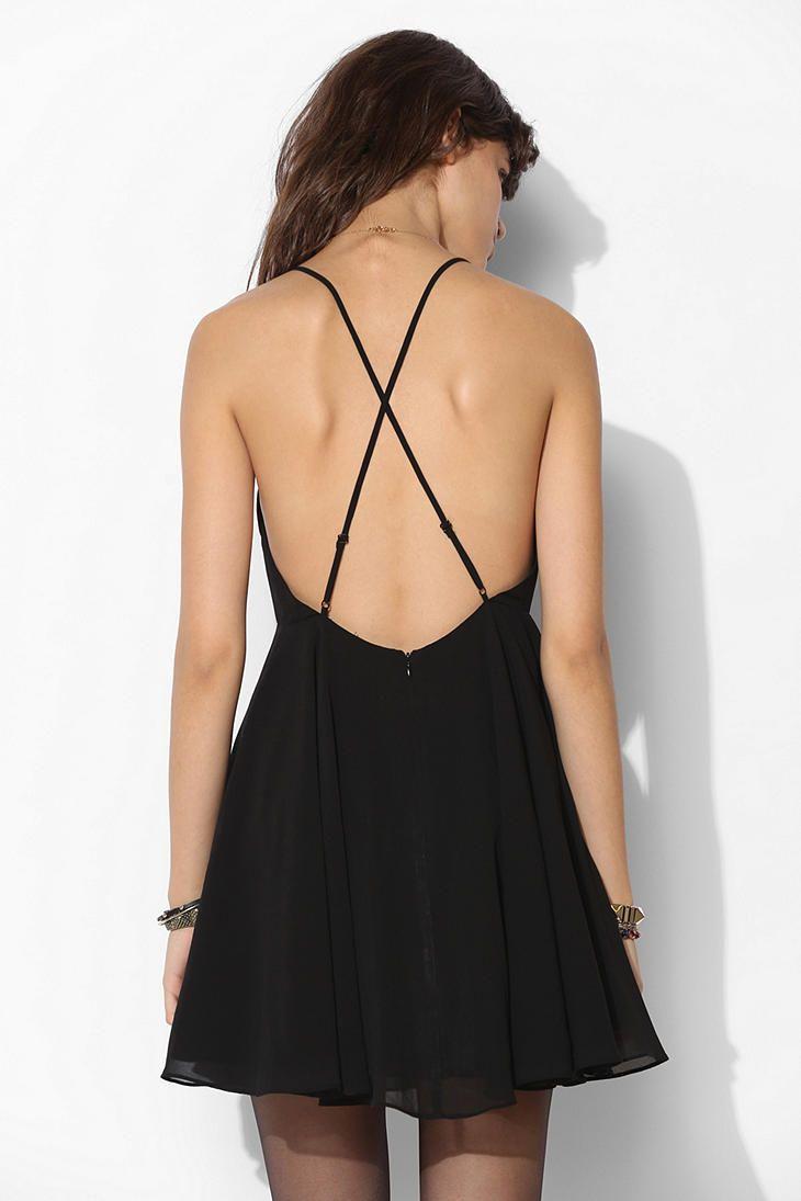 Silence Noise Chiffon High Neck Apron Dress Strappy Backless Dress Urban Dresses Dresses [ 1095 x 730 Pixel ]