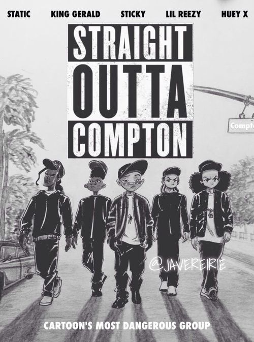 drawing, boondocks, and straight outta compton image ...