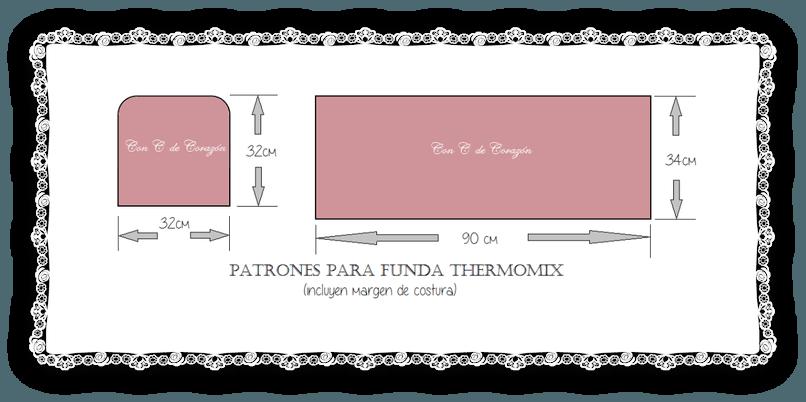 Funda para la thermomix con patrones | IDEAS CON TELA PARA CASA ...