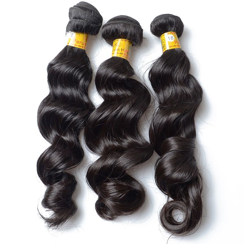 Wholesale Hair Extensions 100 Peruvian Virgin Hair Loose Wave