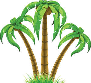 grab this free clipart to celebrate the summer clip art rh pinterest com free clipart palm tree with christmas lights free clipart palm tree borders