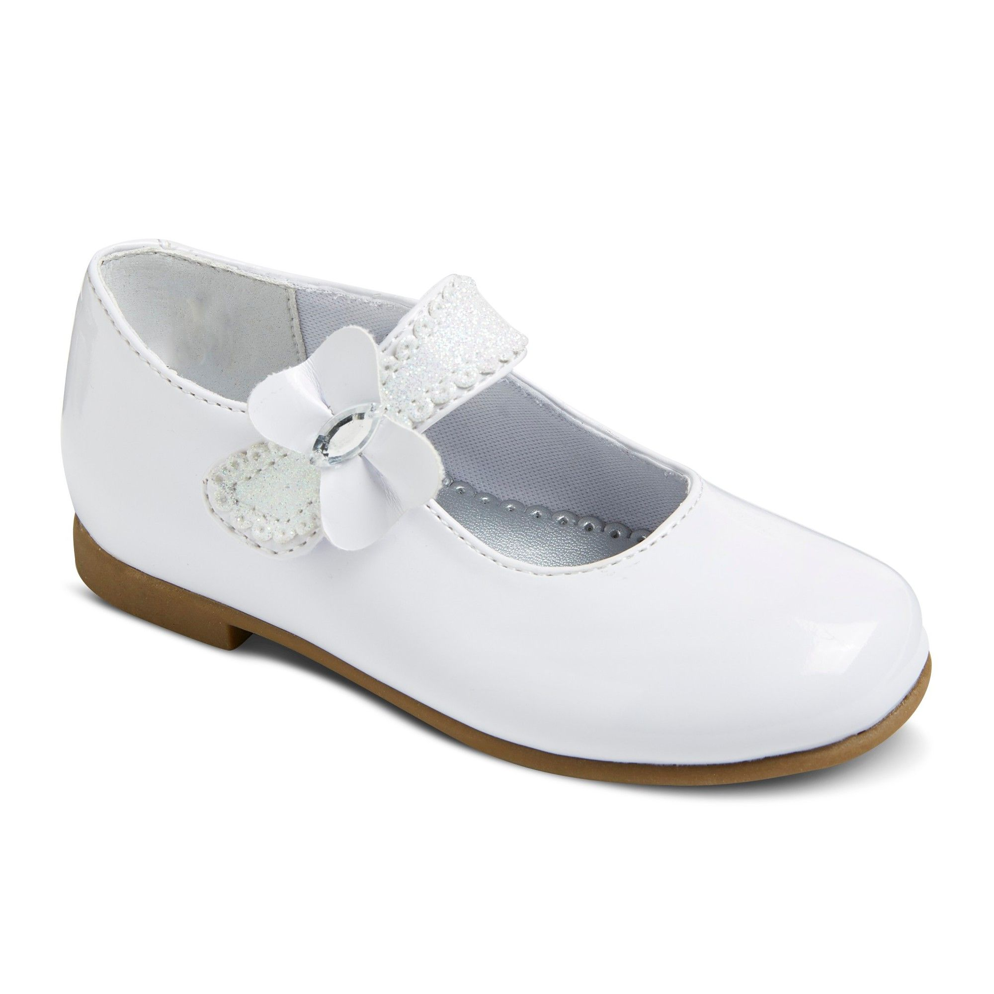 bfd60bed7 Toddler Girls  Rachel Shoes Laurel Mary Jane Ballet Flats - White 10 ...