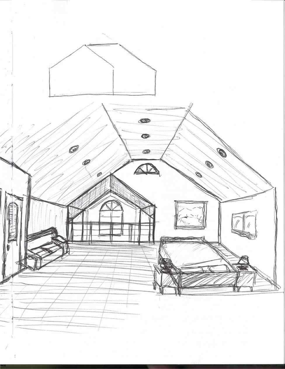 Simple Interior Design Sketches Living Room Future Interior