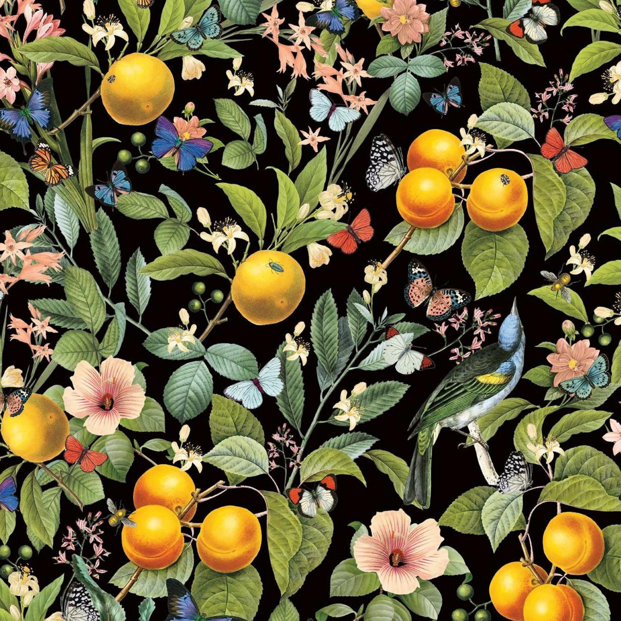 Citrus Garden Peel And Stick Wallpaper By World Market Peel And Stick Wallpaper Peelable Wallpaper Wallpaper Roll