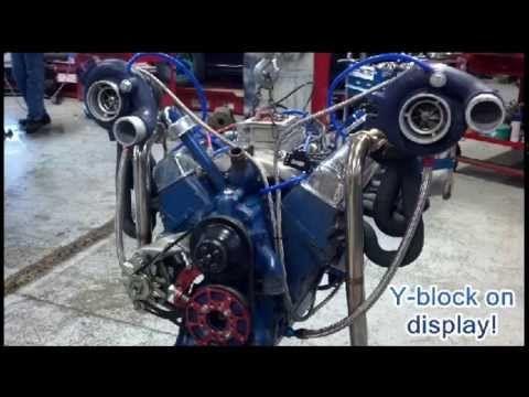 1962 Twin Turbo 292 Y-block 721 whp Robi's Repair - YouTube