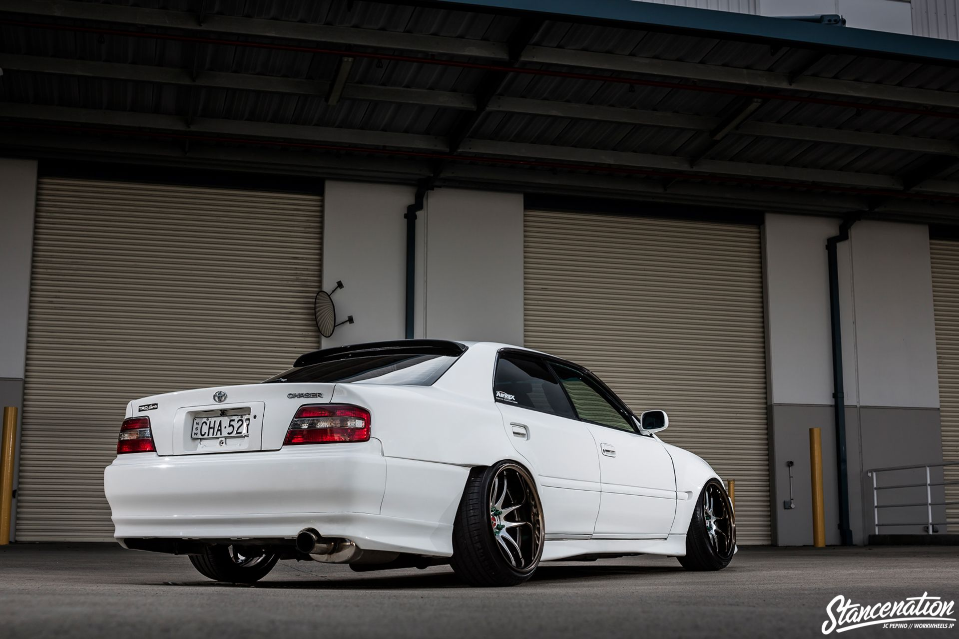 Genial StanceNation CR2P Work Wheels Toyota JZX100 17