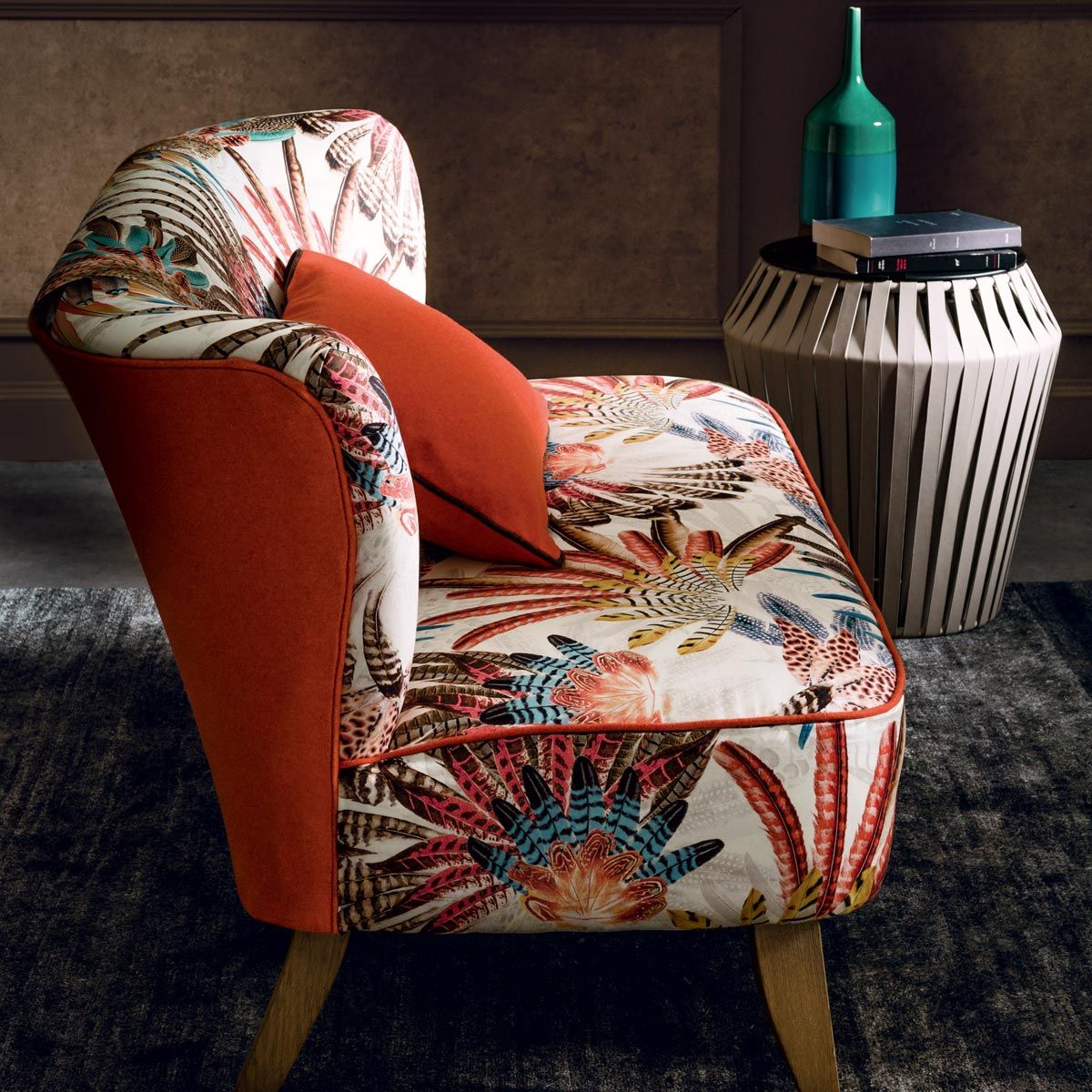 Tissu Touraco - Casamance | Fabric armchairs and Armchairs