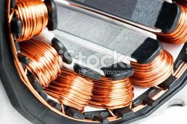Detail Of Copper Winding And Stack Of An Electric Induction Motor For