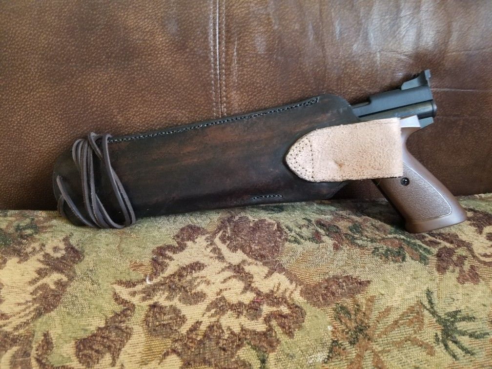 A friend made this holster for my crosman 1377  I bought this pistol