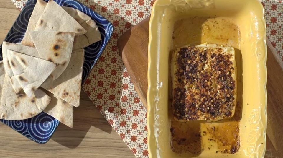 Feta psiti (Spicy baked feta) http//allrecipes.co.uk