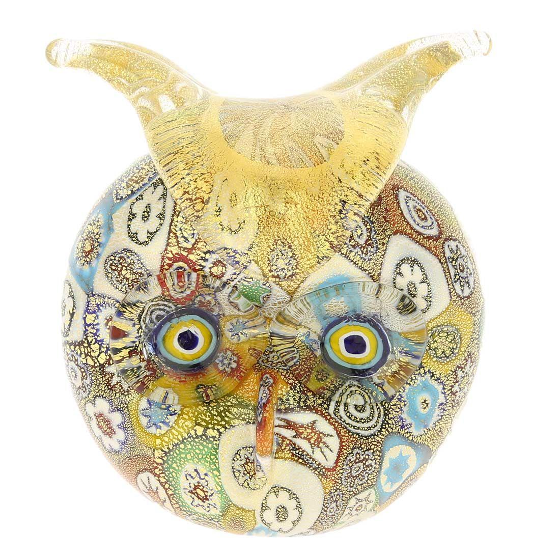 Golden Quilt Millefiori Murano Owl Mit Bildern Glas