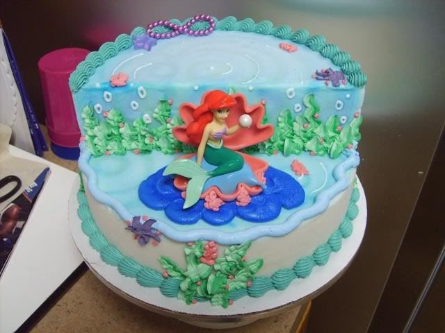 little mermaid cake decorations ideas | cute mermaid cakes table ...