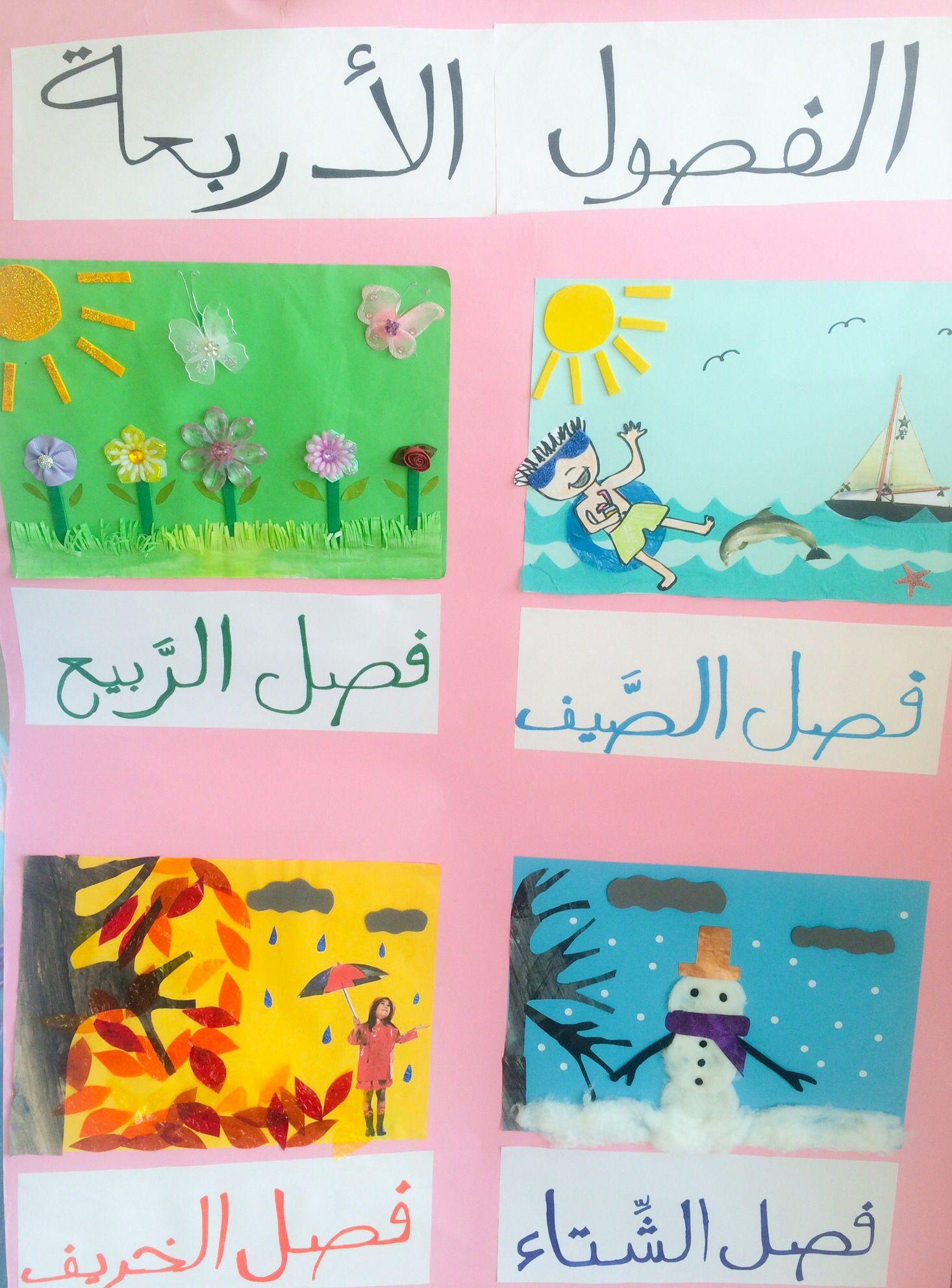 لوحة الفصول الاربعة The Four Seasons Project Summer Crafts For Kids Kids Education Graphic Organizers
