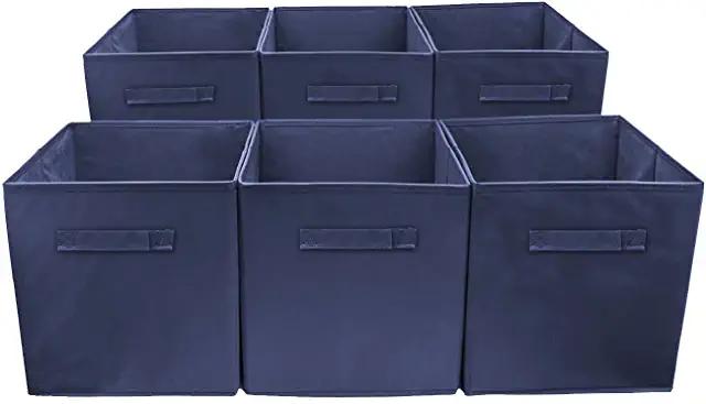 Amazon Com Navy Blue Storage Basket Cube Storage Blue Baskets Storage
