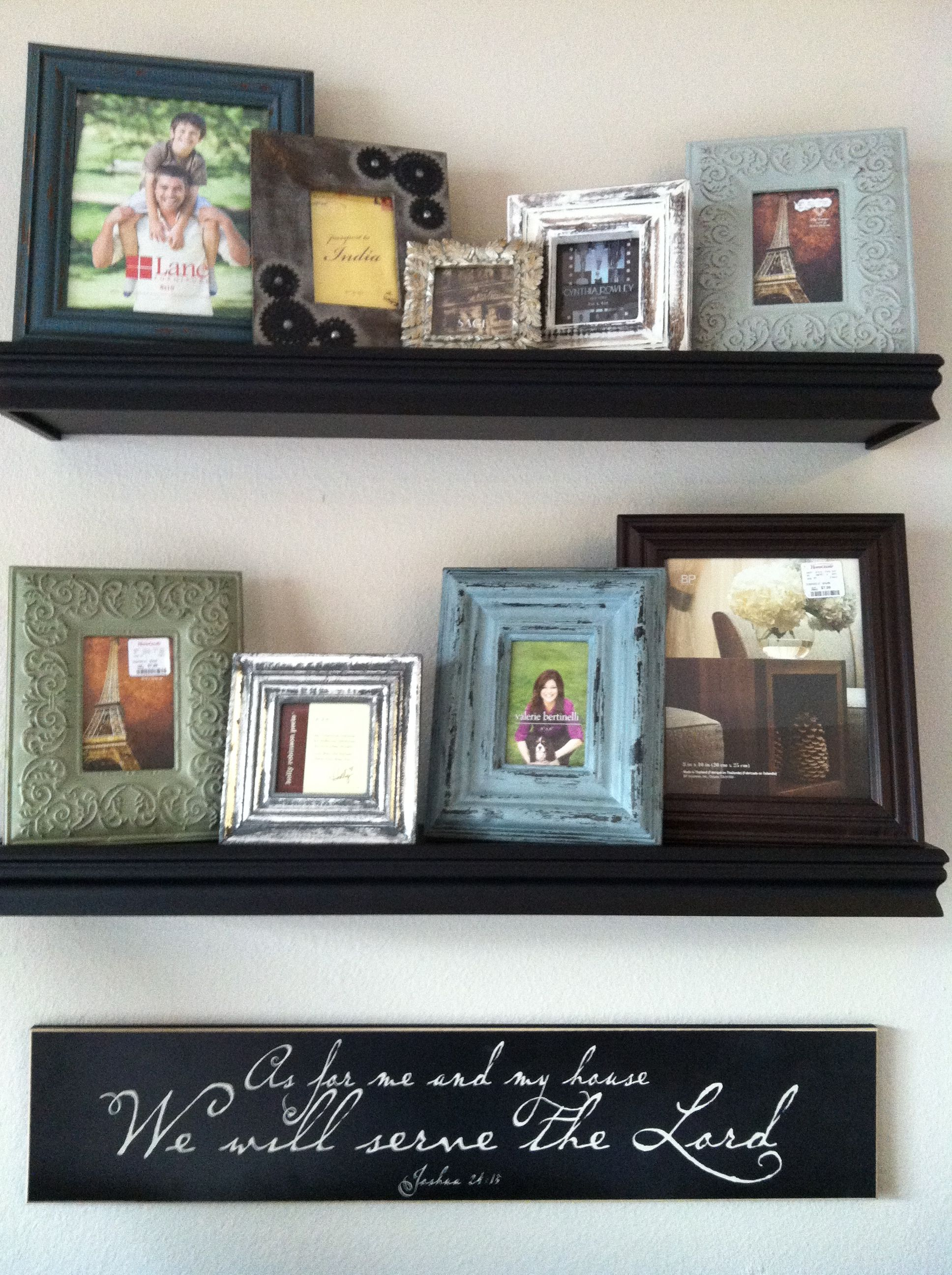 Color Frames Collage On Shelves Wall Sign Joshua