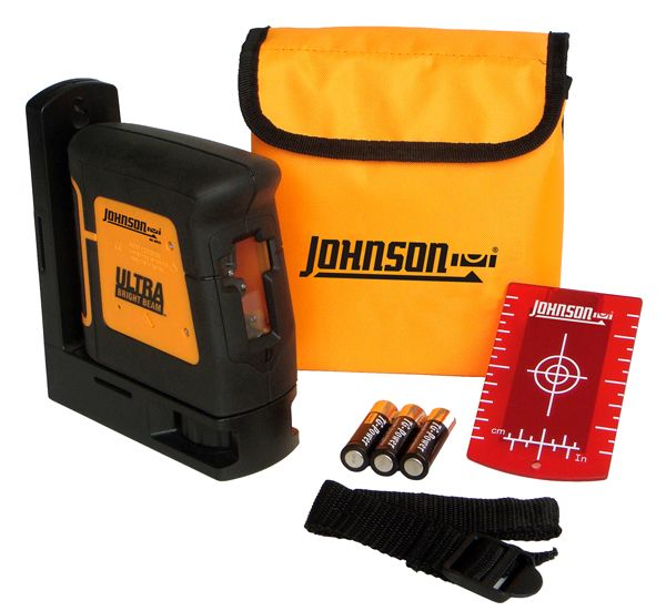 Johnson Level 40 6625 Self Leveling Ultra Bright Cross Line Laser Laser Levels Johnson Laser