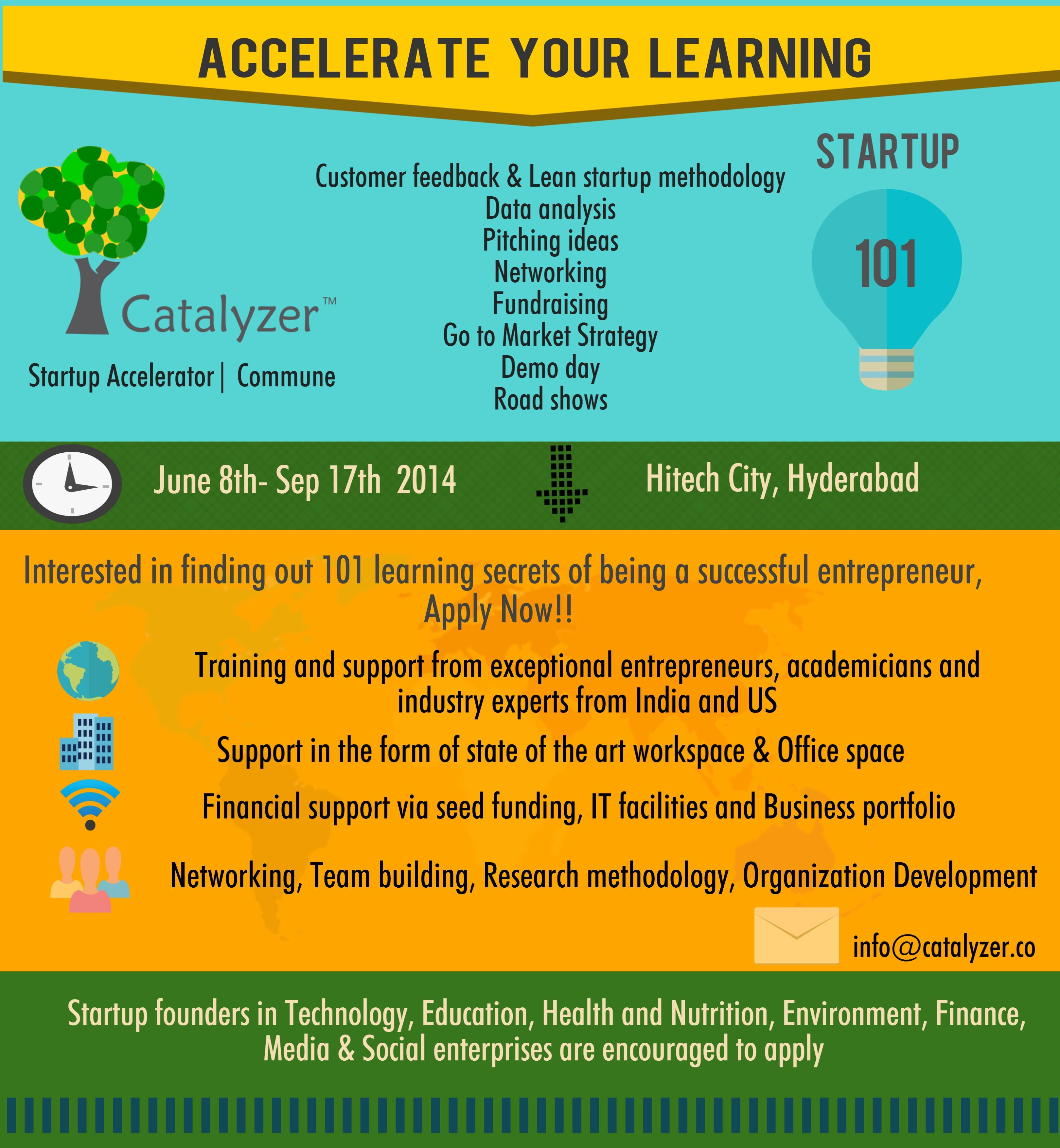 Catalyzer Startup Accelerator announced the launch of the Startup