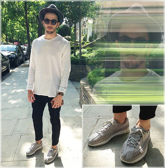 Boris Mcdonaty - Asos Hat, Zara Sweatpants, Nike Mayfly Woven -