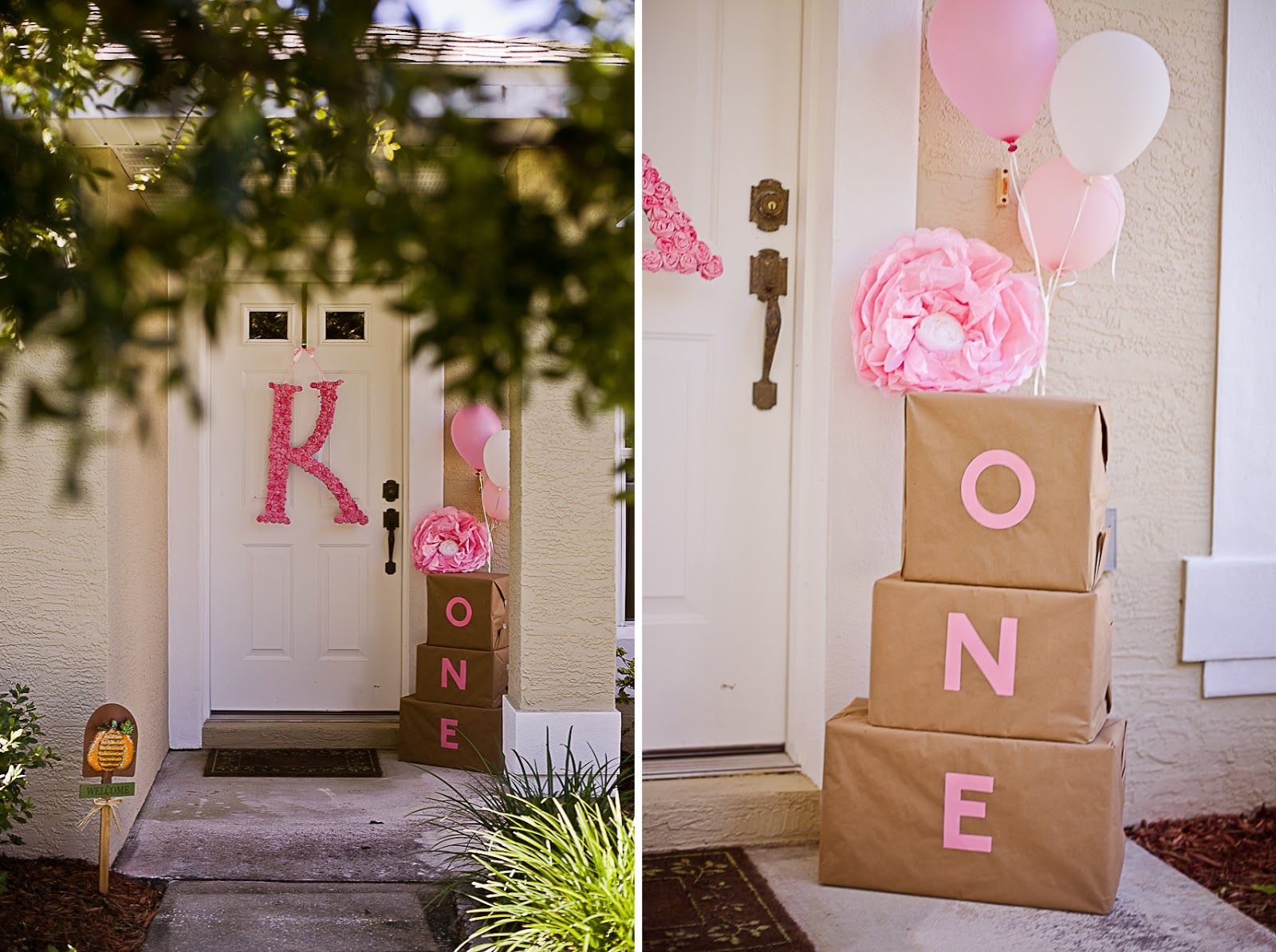 rose theme first birthday Google Search Baby girl 1st