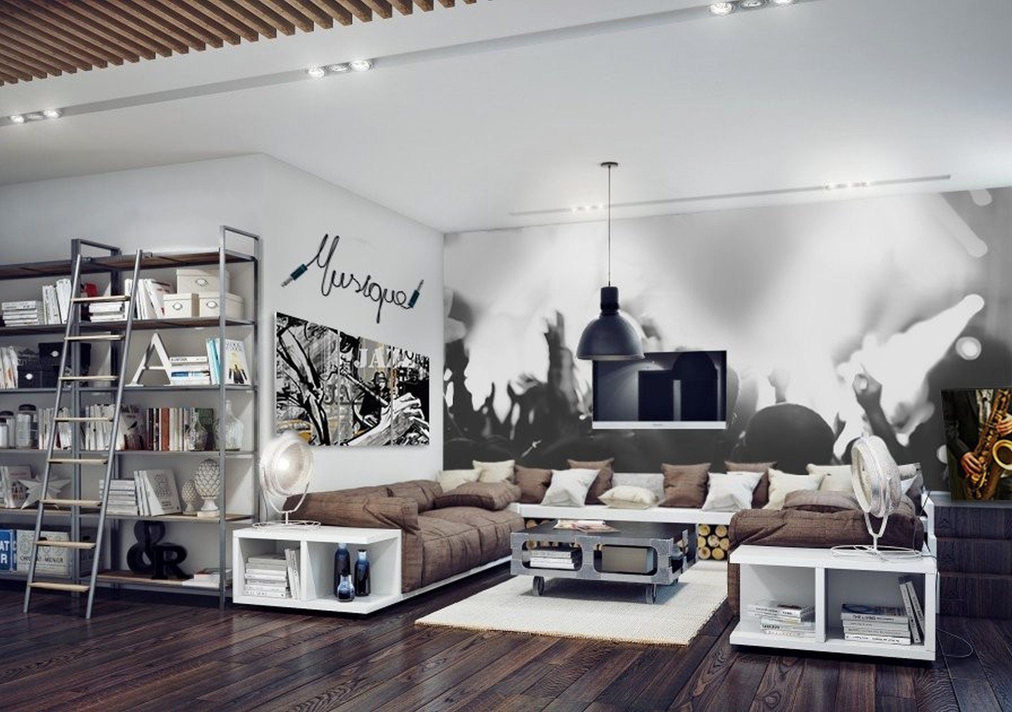 Pin by Abdurhman Meshy on 418 | Pinterest | Industrial living rooms ...
