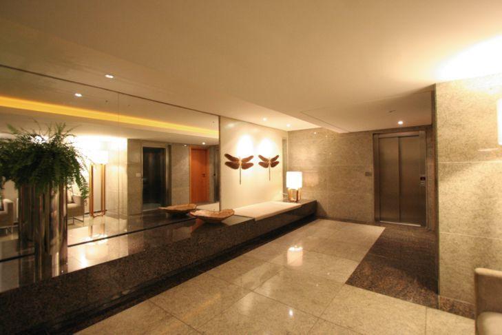 Hall social Zezinho e Turibio Santos Architecture Residential Hall e Hall de entrada # Decoração De Hall Social De Prédio