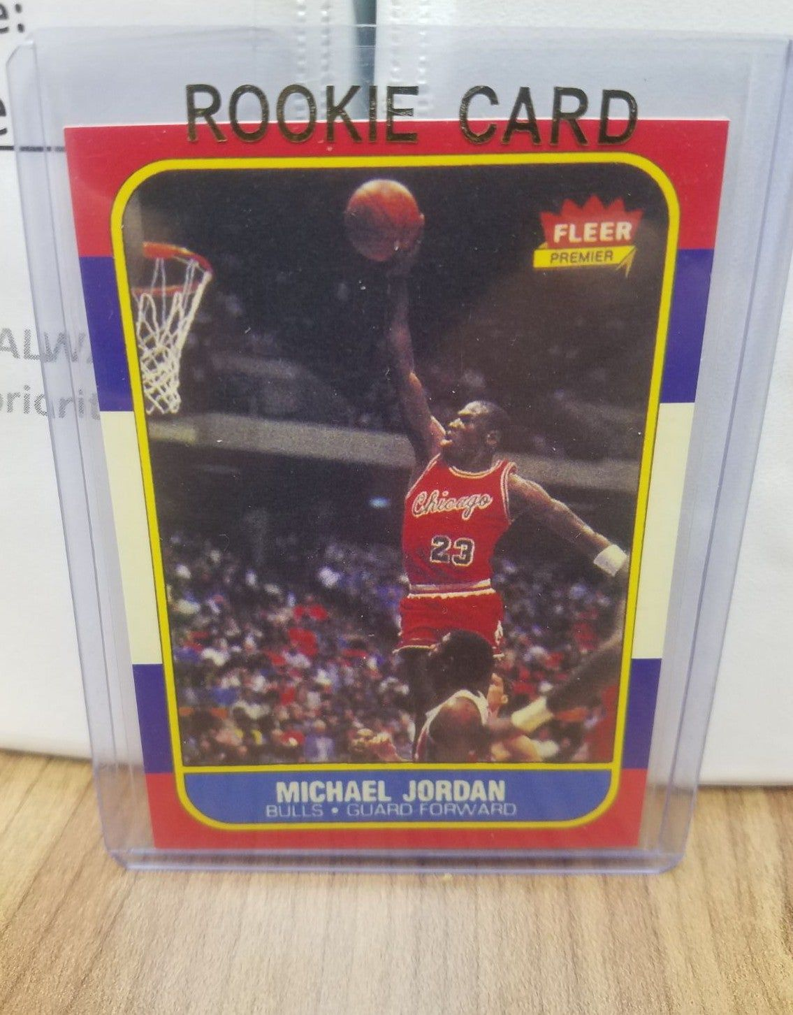 1986 michael jordan fleer rookie card reprint michael