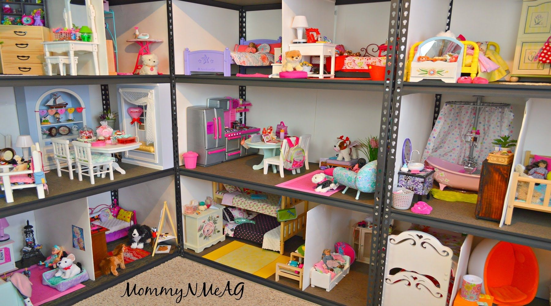 HUGE AMERICAN GIRL DOLL HOUSE !! | NEW 2016 Doll House Tour | MommyN MeAG #americangirlhouse