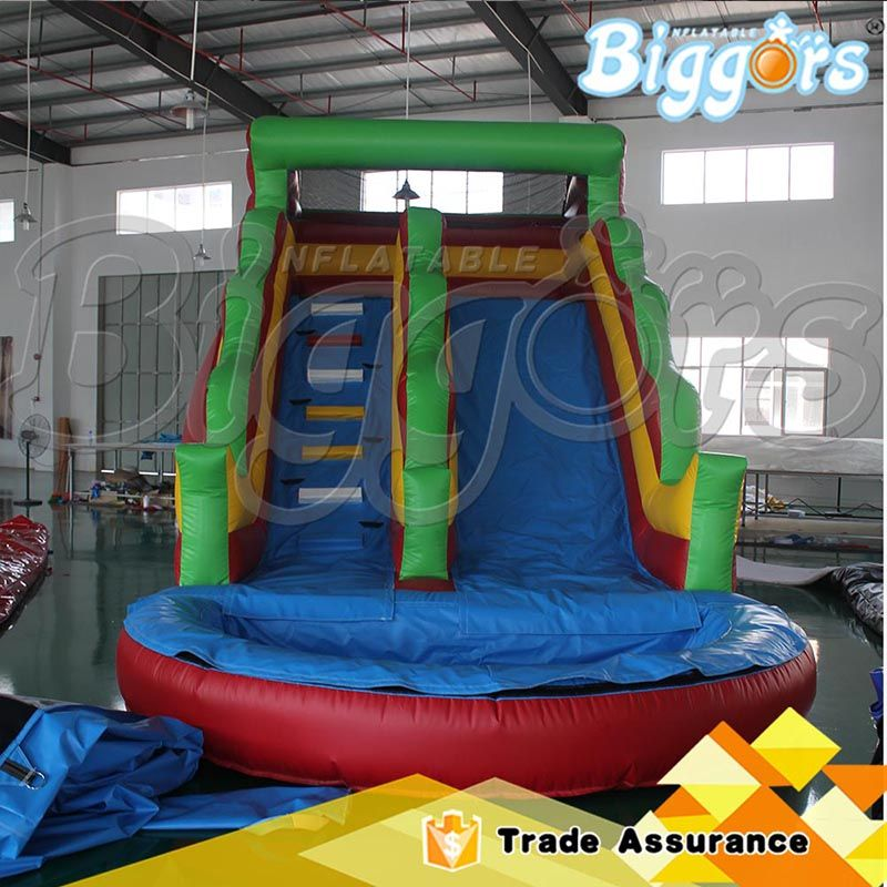 inflatable pool slide it is safe and funny for kids more information welcome