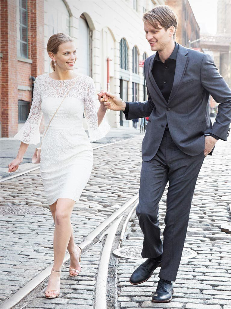 Courthouse wedding dress inspiration Shop little white dresses from