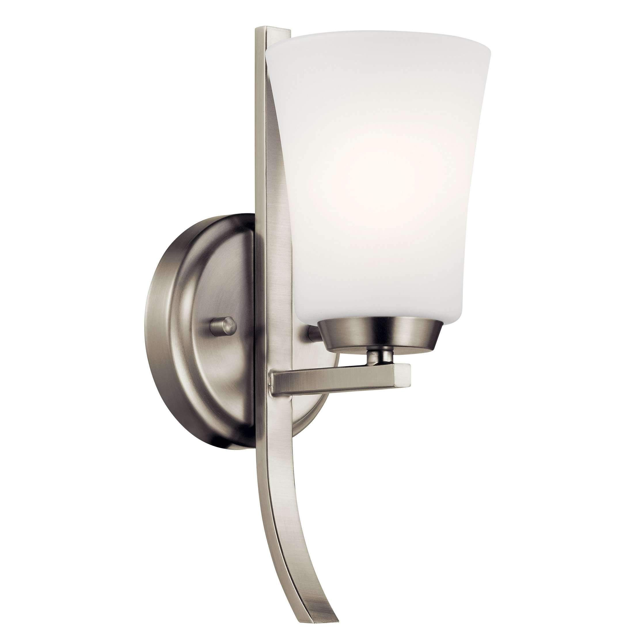 Photo of Tao wall light 1 light – brushed nickel