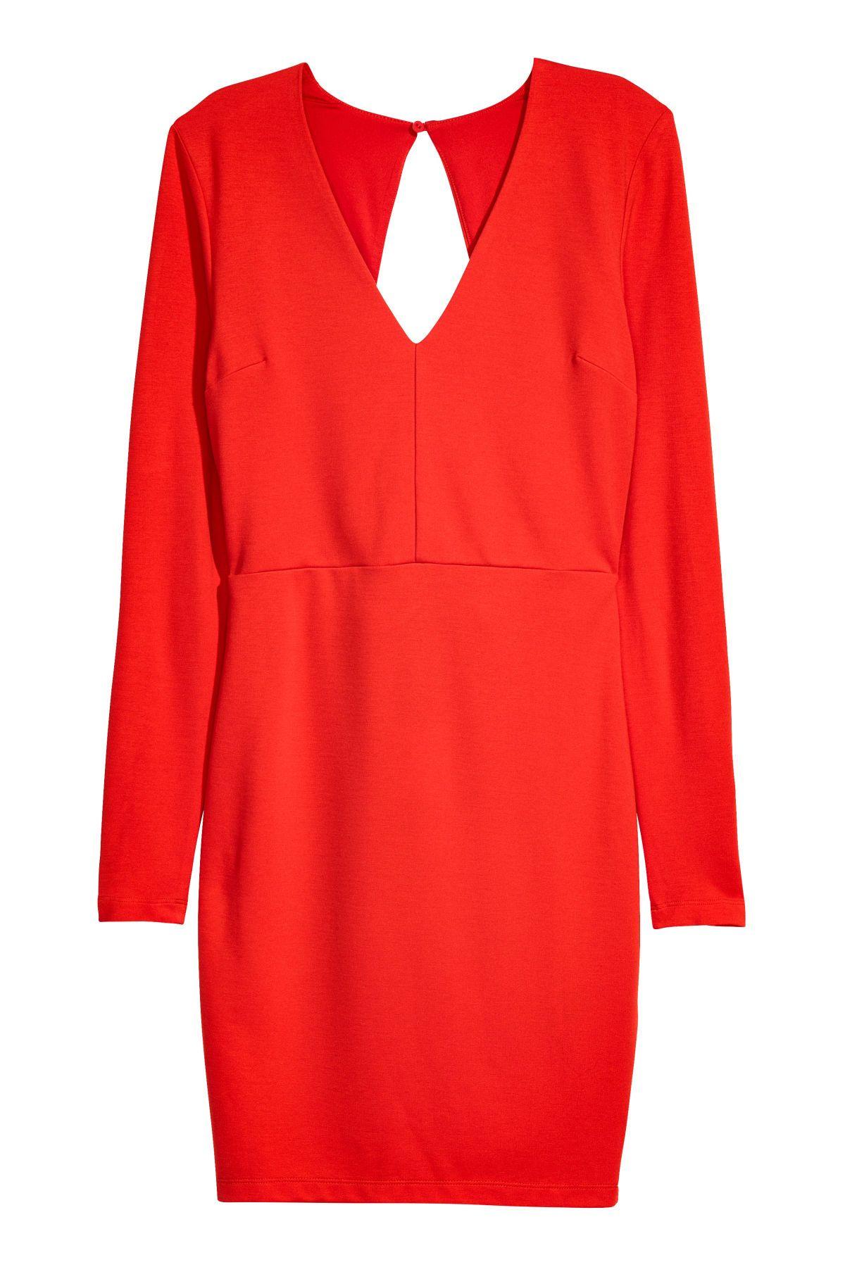 Figurbetontes Kleid   Rot   DAMEN   H&M DE   Modestil ...