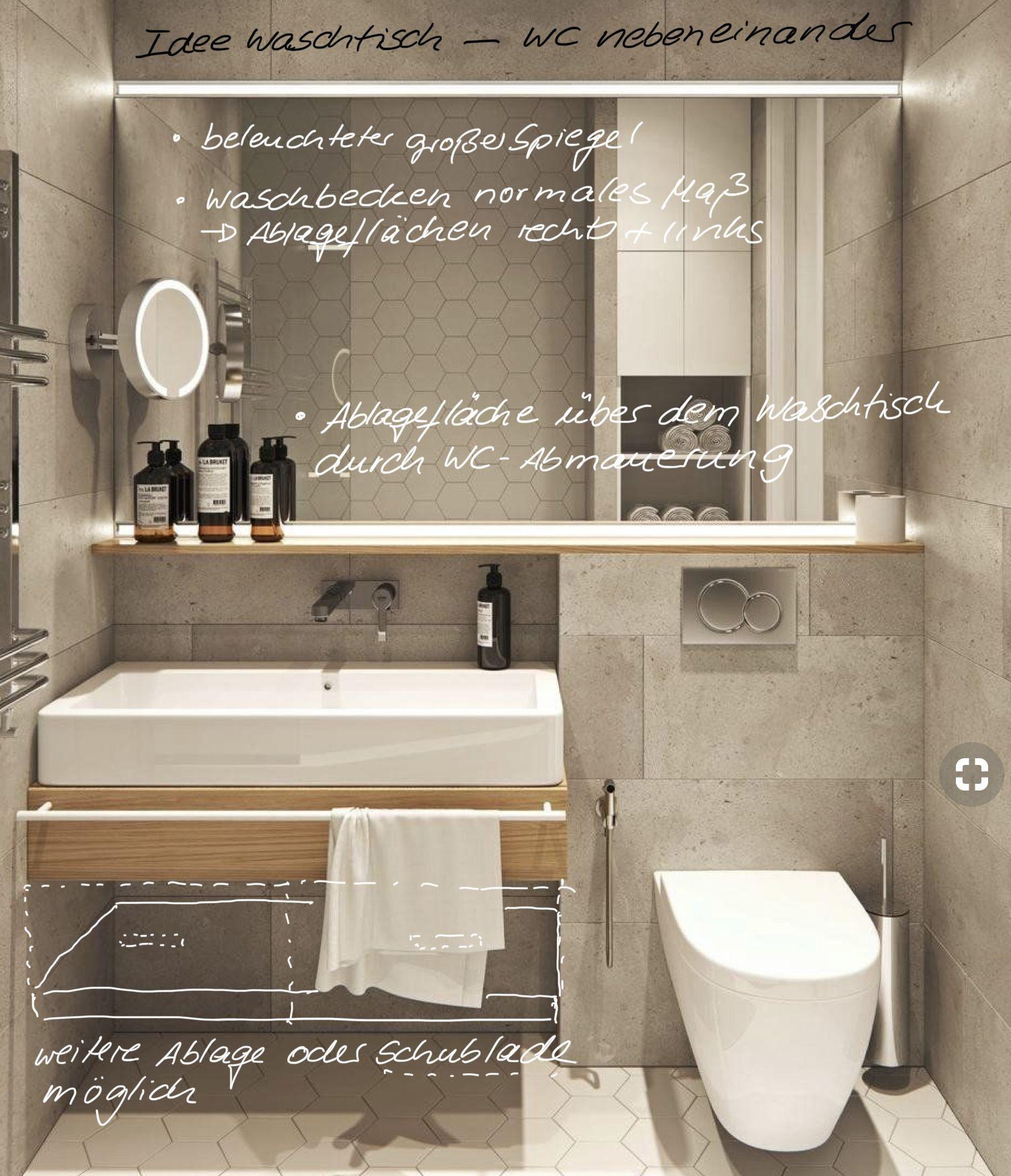 Waschtisch Und Wc Nebeneinander Wc Waschbecken Gaste Wc Badezimmer
