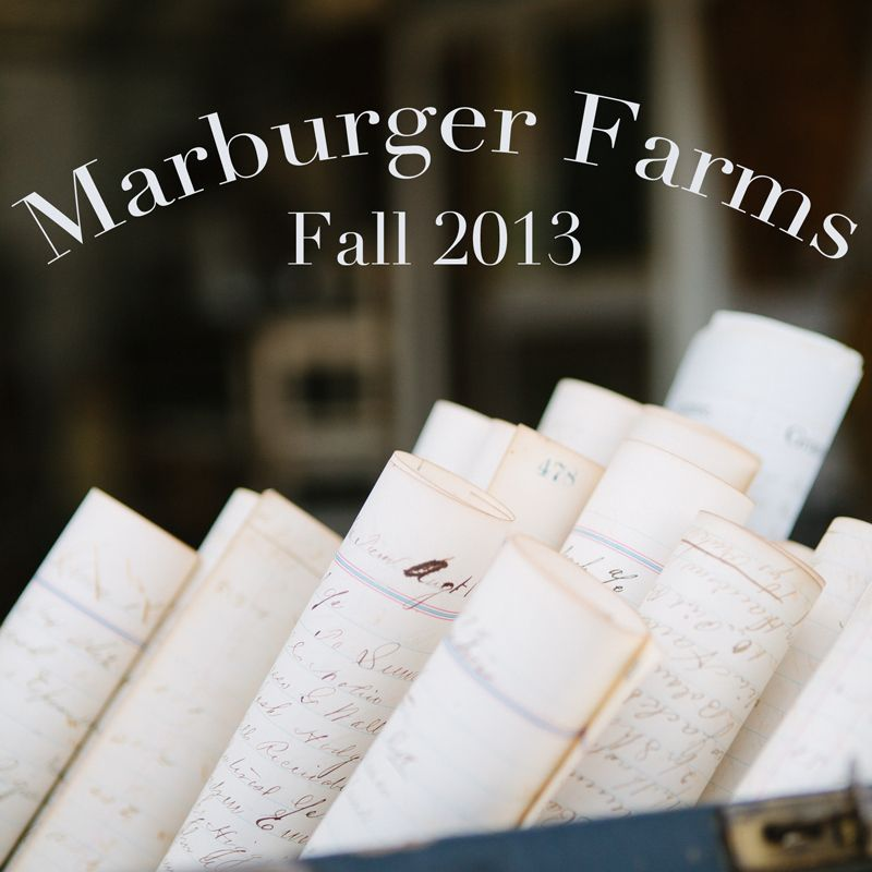 Marburger Farms Fall 2013 Read about all the new Trends Candice spotted.