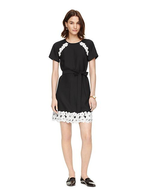 whether you belt it at the waist or leave it loose, this lace-trimmed lbd will look perfectly polished. and it's easy, too: just add flats, sandals or…