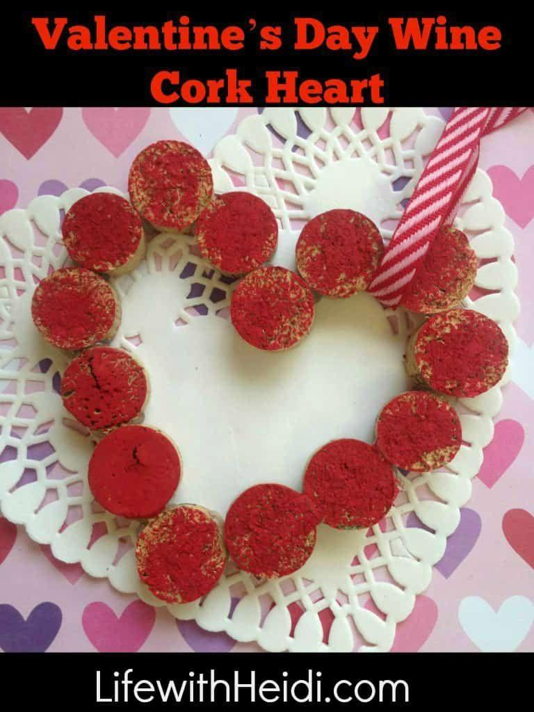 Valentine S Day Wine Cork Heart Wine Cork Cork Heart Valentines Day Wine