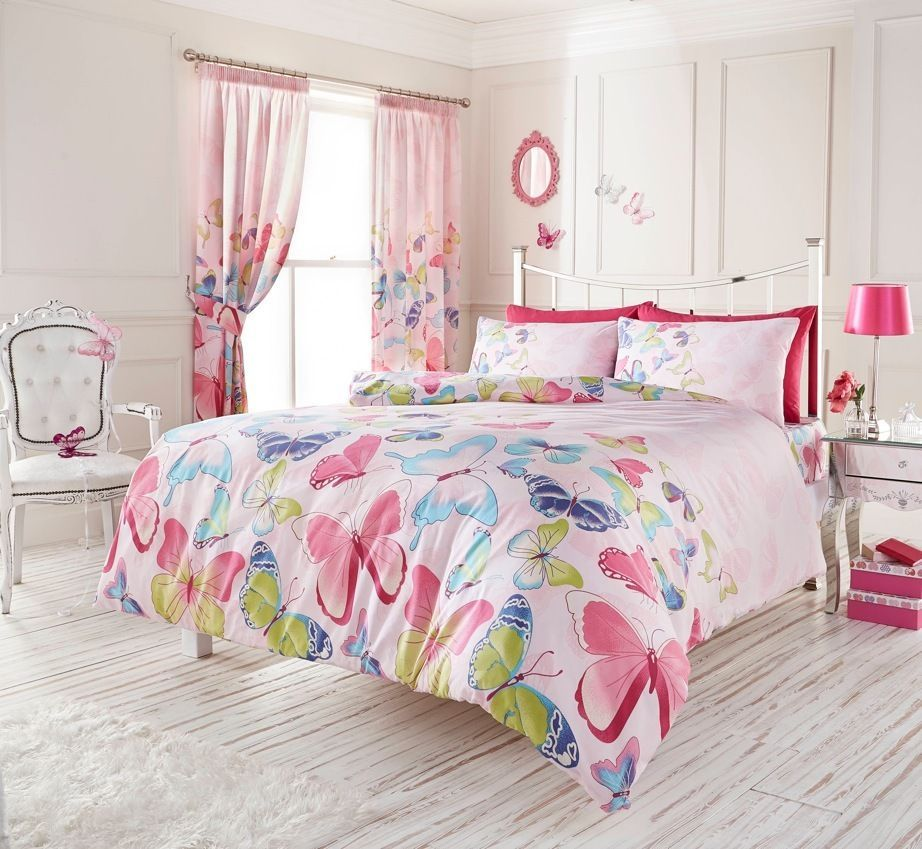 Light Pink Butterfly Bedding Duvet Cover Comforter Cover