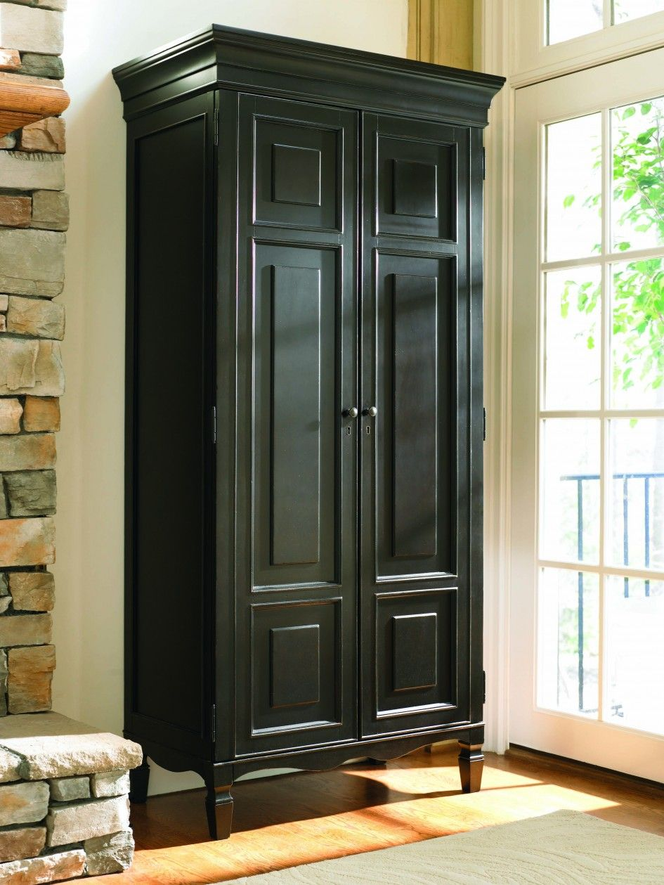 Tall black storage cabinet pleasing for decorating home ideas with
