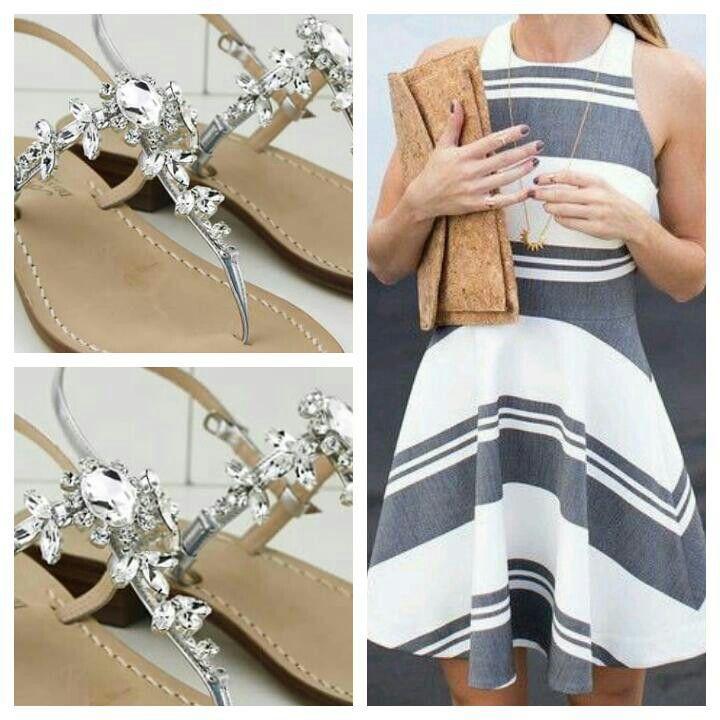 Dea Sandals Capri Style #outfit #fashion #caprisandals #sandals #sandaligioiello #sandalicapresi #sandalipositano #fashionblogger #glamour #fashionweek #swarovsky